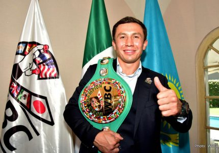 Photos: Gennady Golovkin Recieves WBC Belt In Mexico
