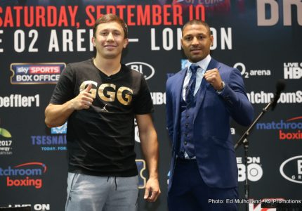 "GGG: ""Brook is the biggest test for me, the best fighter in his division"""