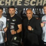 Tim Lihaug - Tim-Robin Lihaug (15-1, 8 KOs) and his team declared war on Arthur Abraham (44-5, 29 KOs) at today's final pre-fight press conference ahead of their WBO International Super Middleweight title fight on Saturday night at the Max-Schmeling-Halle in Berlin.