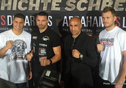 Abraham vs Lihaug; Ogogo vs Kubin; Zeuge vs De Carolis – Action Packed Card In Berlin On Saturday!