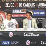 Giovanni De Carolis - Tyron Zeuge (18-0, 10 KOs) says he is ready to make history on Saturday night when he challenges Giovanni De Carolis (24-6, 12 KOs) for the WBA World Super Middleweight title at the Max-Schmeling-Halle in Berlin.