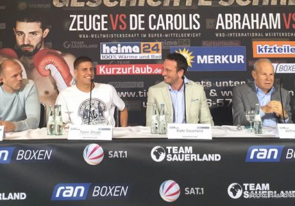 De Carolis vs Zeuge this Saturday in Berlin