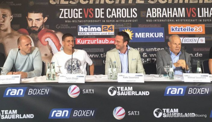 Arthur Abraham Giovanni De Carolis Tim-Robin Lihaug Tyron Zeuge Boxing News