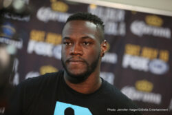 Heavyweight world champion Deontay Wilder, two-time heavyweight title challenger Chris Arreola, undefeated welterweight Sammy Vasquez Jr. and Olympic Gold medalist Felix Diaz participated in a media workout Wednesday as they near their respective Premier Boxing Champions on FOX and FOX Deportes matchups taking place Saturday, July 16 from Legacy Arena in Birmingham, Alabama.
