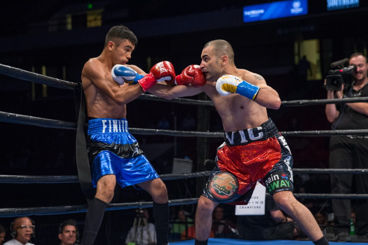 Vic Darchinyan - (Photo credit: Ryan Hafey/Jordan Hardy/Premier Boxing Champions) BIRMINGHAM, AL (July 17, 2016) - Premier Boxing Champions televised action continued following the FOX portion of the telecast as unbeaten rising welterweight contender Jamal James (20-0, 9 KOs) defeated Wale Omotoso (26-3, 21 KOs) by split decision (97-92, 96-94, 93-96) in the 10-round main event of Premier Boxing Champions on FS1 and FOX Deportes from Legacy Arena in Birmingham, Alabama.