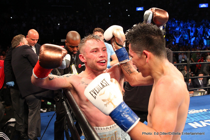 "Carl Frampton - Irish warrior and new WBA featherweight king Carl Frampton is still celebrating his terrific win over Leo Santa Cruz in a definite FOTY candidate; at least ""The Jackal's"" army of fans are still celebrating. And the reasons to be upbeat if you are a Frampton fan just keep coming. As per a story on Irish-Boxing.com, Frampton is now ranked in the top-10 pound-for-pound boxers in the world with The Transnational Boxing Ranking Board."