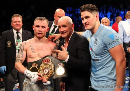 Carl Frampton receives massive homecoming in Belfast, vows to become a three-weight world champ