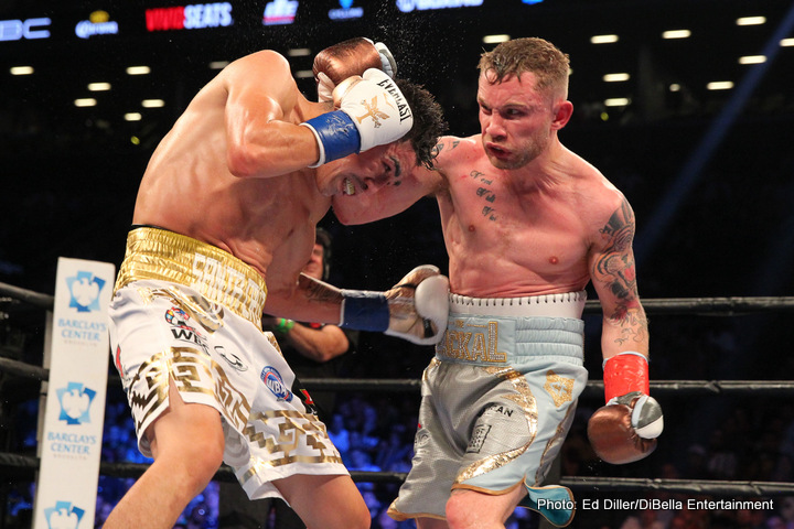 """Carl Frampton, Leo Santa Cruz - Irish warrior Carl Frampton has Tweeted how his anticipated return fight with Mexican warrior Leo Santa Cruz is a """"done deal."""" Frampton won the WBA featherweight crown with a thrilling performance in a Fight of The Year candidate in New York in July. Santa Cruz, who, in dropping a majority verdict, lost for the very first time as a pro. A rematch clause was in place, Santa Cruz and his team enforced it, and now the rematch is set to go."""