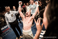 """Carl Frampton, Leo Santa Cruz - Carl Frampton wants to become known as the greatest fighter ever to have come out of Ireland, and last night, with his terrific win over an excellent defending champion in Leo Santa Cruz, """"The Jackal"""" took one huge stride towards achieving his goal. Out-pointing the relentless defending WBA featherweight champion, Frampton boxed superbly and he is now a two-weight world ruler. All congratulations and respect go out to Frampton and he will now head back to a hero's reception in Belfast."""