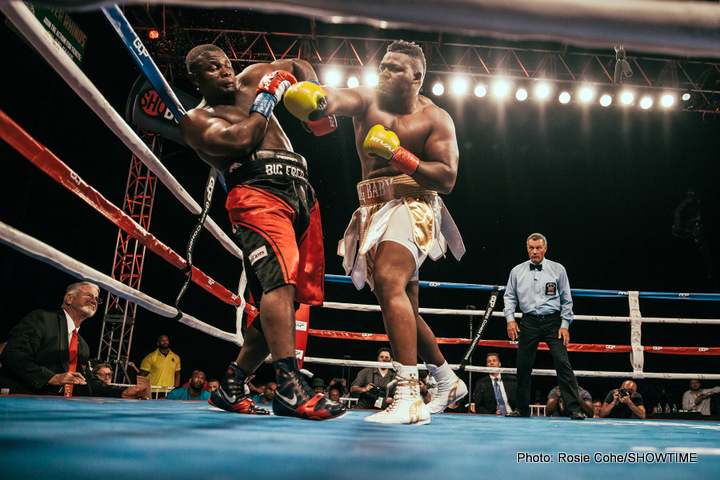 """Gerald Washington, Jarrell Miller - The July 29 fight between Mikey Garcia and Adrien Broner is an excellent match-up, but the card just got even better with the addition of the heavyweight match-up that is unbeaten contender Jarrell """"Big Baby"""" Miller against recent WBC title challenger Gerald Washington."""