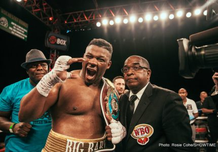 "Jarrell Miller dismisses Joseph Parker, says he would ""go anywhere to beat that bum"""