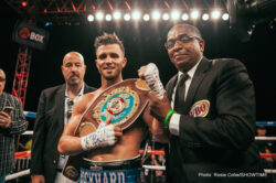 """Fred Kassi, Jarrell """"Big Baby"""" Miller - Heavyweight Jarrell Miller (18-0-1, 16 KOs) showed that he could beat a vulnerable and much lighter Fred Kassi (18-6-1, 10 KOs) tonight in stopping him in three rounds on Friday in a one-sided contest on Showtime Boxing at the outdoor Rhinos Stadium in Rochester, New York.  The 36-year-old Kassi decided he'd had enough after the third round, so he didn't bother coming out for round four."""