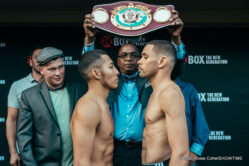 """Fred Kassi, Jarrell """"Big Baby"""" Miller - The eight fighters who'll be fighting on ShoBox: The New Generation tomorrow/Friday, Aug. 19, live on SHOWTIME® (10 p.m. ET/PT) at Rhinos Stadium in Rochester, N.Y., all made weight Thursday."""