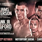 Liam Williams - Frank Warren yesterday announced a blockbuster double main event bill for Cardiff's Motorpoint Arena on Saturday October 22nd, featuring the mandated British Title showdowns between Chris Eubank Jr and Tommy Langford; and Liam Williams and Ahmet Patterson.