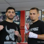 "Michael Perez -  WBA Number 3 rated Lightweight contender, Michael ""The Artist"" Perez  (24-1-2, 11 KOs) of Newark, N.J. and NABA Lightweight Champion Petr ""Zar"" Petrov (37-4-2, 17 KOs) of Ryazan, Russia hosted a media workout in Los Angeles today, ahead of their battle for the WBA Lightweight World Title Eliminator on September 30 at Fantasy Springs Resort Casino and broadcast live nationally on Estrella TV's Boxeo Estelar.  Also in attendance were televised fighters Alexis Rocha (4-0, 3 KOs) of Santa Ana, Calif. and co-main event, Genaro ""El Conde"" Gamez (2-0, 2 KOs) of San Diego. East Los Angeles' Jonathan ""Thunder"" Navarro (6-0, 5 KOs) who is scheduled for a six-round super lightweight fight against Larry Carrillo (5-1, 2 KOs) of Houston, Texas was also onsite."