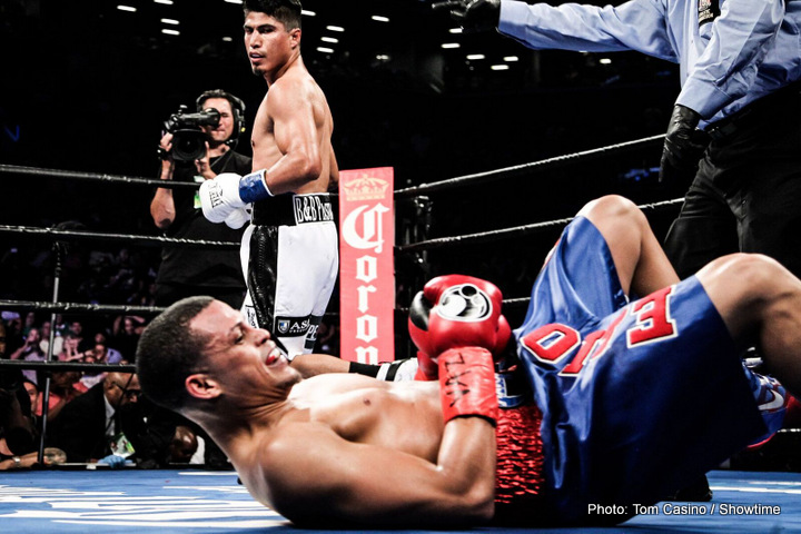 Elio Rojas Mikey Garcia Boxing News Boxing Results