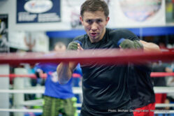 """Gennady Golovkin, Roman Gonzalez - Boxing's Two Best Pound-For-Pound Fighters and two of the sport's biggest stars, Unified Middleweight World Champion Gennady """"GGG"""" Golovkin, (35-0, 32KO's) and WBC Flyweight World Champion Roman """"Chocolatito"""" Gonzalez, (45-0, 38 KO's), hosted Joint Media Workouts yesterday from their training camps at the The Summit High Altitude Training Facility in Big Bear Lake, California."""