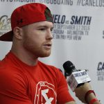 """Liam Smith, Saul """"Canelo"""" Alvarez - Former two-division world champion Canelo Alvarez (47-1-1, 33 KOs) today hosted a media workout at the House of Boxing in San Diego ahead of his clash with WBO Junior Middleweight World Champion Liam """"Beefy"""" Smith (23-0-1, 13 KOs) on Mexican Independence Day Weekend on September 17 at AT&T Stadium, home of the Dallas Cowboys, in Arlington, Texas."""