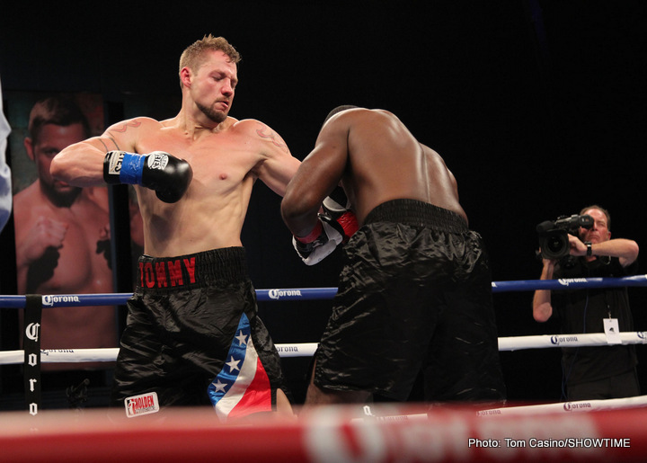 "Trey Lippe-Morrison - On a night when undefeated heavyweight Trey Lippe Morrison won his television debut and Ivan ""The Beast"" Baranchyk and Ivan ""The Volk"" Golub remained unbeaten, light heavyweight Radivoje ""Hot Rod"" Kalajdzic regained his winning ways by registering a fifth-round knockout over previously unbeaten Travis Peterkin in the main event of a ShoBox: The New Generation quadrupleheader live on SHOWTIME Friday from Buffalo Run Casino in Miami, Okla."