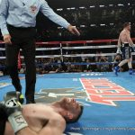 """Gennady Golovkin, Saul """"Canelo"""" Alvarez - Saul 'Canelo' Alvarez looked clinical in claiming the WBO light middleweight title with a 9th round stoppage of Liam Smith on Saturday night. Canelo had been dominant from the opening bell and managed to put Smith down in rounds 7 and 8 before finding a fight ending left hook to the body."""