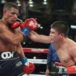 """Diego De La Hoya - Mexicali's Diego De La Hoya (16-0, 9 KOs) came out in full force in his WBC Youth Super Bantamweight title defense against Luis """"Orlandito"""" Orlando Del Valle (22-3, 16 KOs) of Baymon, Puerto Rico as the HBO Pay-Per-View telecast opener on Mexican Independence Day weekend. As a classic Mexico vs. Puerto Rico boxing match rivalry, there wasn't a single dull moment in the De La Hoya vs. Del Valle matchup as both fighters were relentless in the ring. In round six, after deflecting punches, Del Valle stumbled back in the ring with De La Hoya continuing to go after him. In the end, De La Hoya's aggression made all the difference as the judges announced a unanimous decision victory for Diego De La Hoya."""