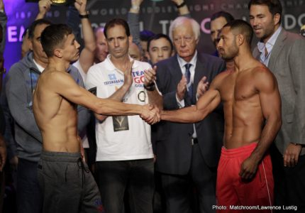 Weights: Golovkin 159, Brook 159.5
