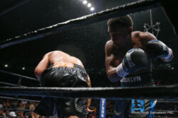 "Daniel Jacobs, Richard Commey, Robert Easter Jr., Sergio Mora - Middleweight world champion Daniel ""The Miracle Man"" Jacobs (32-1, 29 KOs) retained his title and knocked down former world champion Sergio ""The Latin Snake"" Mora (28-5-2, 9 KOs) five times on his way to a seventh-round TKO in the main event of Premier Boxing Champions on Spike Friday night from Santander Arena in Reading, Pa."