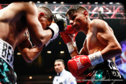 "Frank Galarza, Ishe Smith - The first Las Vegas born world champion, Ishe ""Sugar Shay"" Smith (29-8, 12 KOs) defeated Frank ""Notorious"" Galarza (17-2-2, 11 KOs) via majority decision in his hometown from The Chelsea inside The Cosmopolitan of Las Vegas in the main event of Premier Boxing Champions (PBC): The Next Round on Bounce TV."