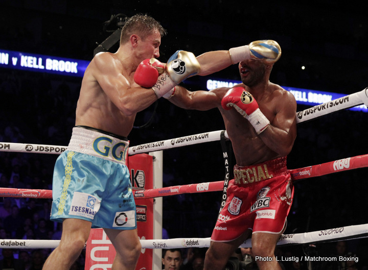 Carlos Cuadras, Gennady Golovkin, Kell Brook, Roman Gonzalez - By Jason Gonzalez, Real Combat Media.com: Gennady Golovkin (36-0) took on Kell Brook (36-1) this Saturday at the O2 Arena in Greenwich, London. Golovkin won the fight by TKO in the fifth round after Brook's corner decided that Brook had taken enough punishment. Leading up to the fight Golovkin was under major scrutiny for deciding to fight a guy who is two weight classes under him. Even though the fight did end early as many predicted boxing fans and critics learned at least one thing that night; Golovkin can be hurt. It was obvious from round one that Golovkin's power was to much for Brook, but there was several times where Golovkin did look vulnerable. This is something that had not been seen before. Before this fight it looked like Golovkin was this invisible monster at Middleweight who would destroy Saul Canelo Álvarez. Now it seems as if Golovkin has a chink in his armor.