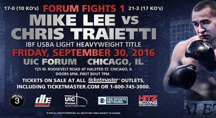 Traietti vs. Lee on September 30th