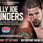 Artur Akavov, Billy Joe Saunders - Undefeated WBO World Middleweight Champion Billy Joe Saunders (23-0 12 KOs) will make the first defence of his title against Russia's Artur Akavov (16-1 7 KOs) on Frank Warren's mouth-watering October 22 Motorpoint Arena Cardiff show, live and exclusive on BoxNation.