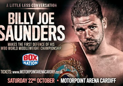 Billy Joe Saunders returns to the ring on Oct 22 vs Artur Akavov