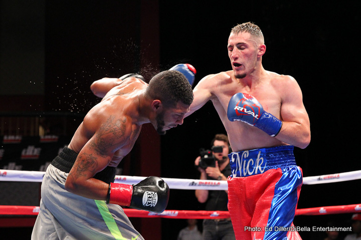 Nick DeLomba - New England boxers dominated last night's Broadway Boxing, presented by DiBella Entertainment and sponsored by Nissan of Queens, Optyx, Azad Watches and Christos Steak House, held in the Fox Theater at Foxwoods Resort Casino in Mashantucket, Connecticut.