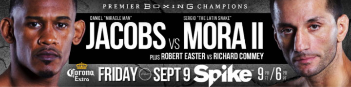 Sergio Mora - When you got to--boxing out there, like me, I'm using my rank, my length, and  what I'm throwing  hard as well, how you going to be able to get past that?  So, like I said, the skills are not much there.  But, I don't like to get hit that much.  I won't get hit that much.  So, I'm going to take all that away, and then whatever he's bringing and adjust to have him adjust to me.  Once I get him in my game plan, the fight is going to go my way the whole few rounds it's going to last.
