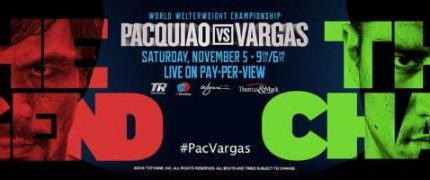 Pacquiao discusses Vargas fight