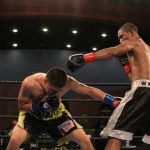 Eddie Ramirez - Chicago's Eddie Ramirez (15-0, 10 KOs) scored a seventh round knockout of Kevin Watts (11-1, 4 KOs) in a battle of unbeaten super lightweight prospects that served as the main event of Premier Boxing Champions TOE-TO-TOE TUESDAYS on FS1 and BOXEO DE CAMPEONES on FOX Deportes Tuesday night from Robinson Rancheria Resort and Casino in Nice, California.