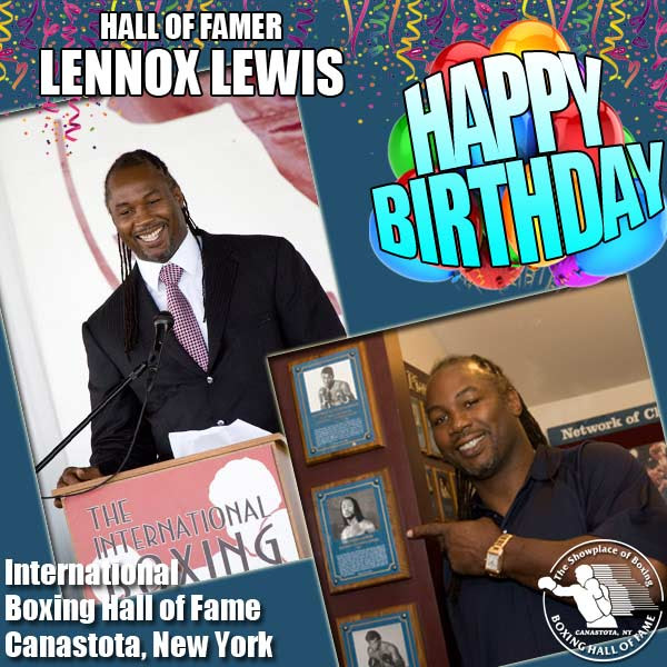 Lennox Lewis - Heavyweight great Lennox Lewis, who today celebrates his 51st birthday, really did win everything there was worth winning during his amateur and pro career. Born in London in 1965 and relocating to Canada at the age of 12, Lewis achieved the following: