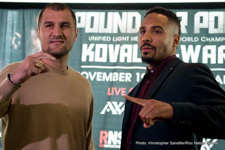 Ward vs Kovalev: Andre SOG Ward the General Needs Enlisted too