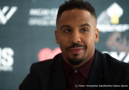 "Andre Ward says he smiles at Chris Eubank Junior's claim he would ""wreck"" him"