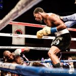 """Demetrius Andrade - Twenty-eight year old professional boxer, Demetrius """"Boo Boo"""" Andrade (Providence, Rhode Island/pro record: 23-0, 16 KOs), is a former WBO Light Middleweight Champion and a 2008 Olympian. He last fought on June 11, 2016, in a Showtime televised appearance against tough title contender, Willie Nelson. In that fight, Andrade dominated Nelson with varied punch combinations, dropped him four times, and won by technical knockout at 1:38 of Round 12."""