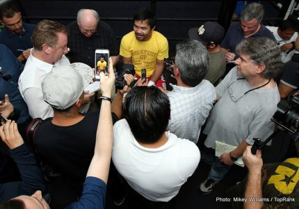 Manny Pacquiao's Media Workout Quotes