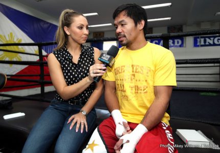 "Manny Pacquiao says no way to four fights this year, but says he is ""ready to fight anybody"""