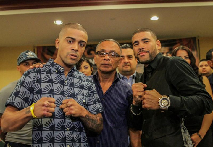 """This Saturday night's grudge match between Puerto Rican former world champions Wilfredo """"Papito"""" Vázquez, Jr and Juan Manuel """"JuanMa"""" López is no hype job.  Plain and simple, they really dislike each other immensely and both have predicted knockouts in their 12-round Special Attraction showdown, contested at a 129-pound catch-weight, which will air live on pay per view from Roberto Clemente Coliseum in San Juan, Puerto Rico."""