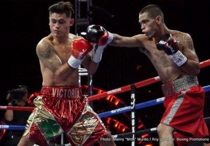 Late replacement Erik Ruiz upsets  Hanzel Martinez !