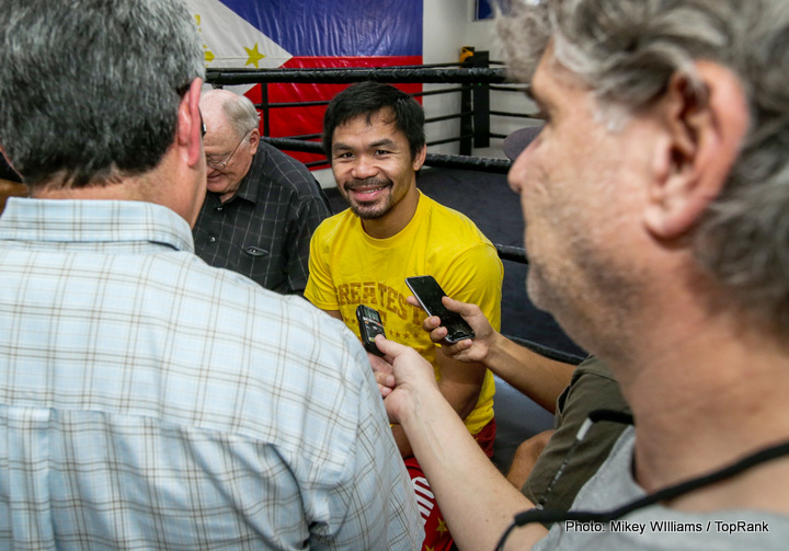 Bob Arum, Gennady Golovkin, Jessie Vargas, Manny Pacquiao - We've seen crazy, even unthinkable fights become reality in the sport of boxing, and just recently we've seen some shockers come off (see Canelo-Khan and Golovkin-Brook – both fights coming out of nowhere and causing genuine surprise and stun when first announced). But the recent article that appeared suggesting how promoter Bob Arum was seriously thinking about putting Manny Pacquiao in with middleweight king Gennady Golovkin has been totally discredited - by Arum himself.