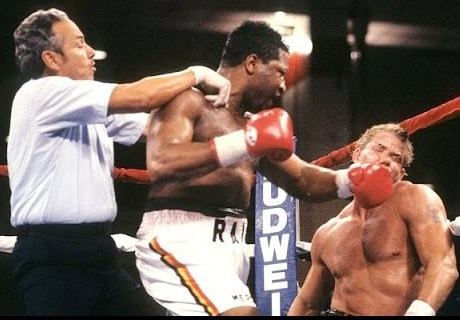 """Tommy Morrison - The fight was dubbed """"Test of Courage"""" and the loser of the heavyweight battle that took place a quarter of a century ago today had to show real courage in even stepping back into a boxing ring after what happened to him in Atlantic City, New Jersey."""