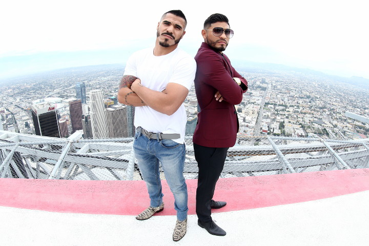Jesus Cuellar - Featherweight world champion Jesus Cuellar and former three-division world champion Abner Mares met face-to-face Thursday at a press conference at OUE Skyspace at US Bank Tower – the tallest building west of the Mississippi River - to discuss their world title showdown presented by Premier Boxing Champions (PBC) on Saturday, December 10. The event will be live on SHOWTIME from USC's Galen Center in Los Angeles.