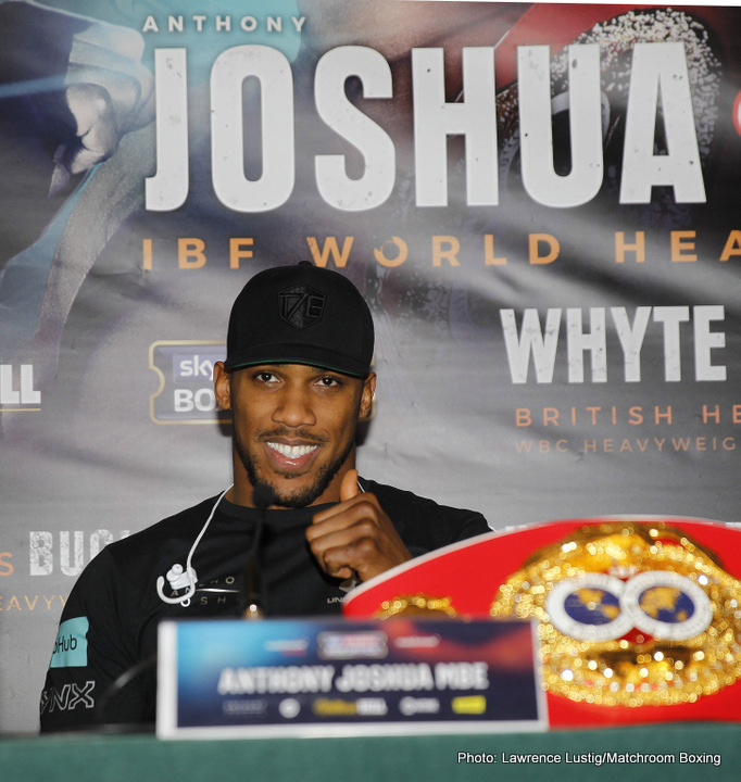 Anthony Joshua Carlos Takam Boxing News British Boxing