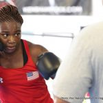 "Claressa Shields - Two-time Olympic Gold Medalist Claressa Shields (1-0) of Flint, Mich., and bantamweight contender Nikolay Potapov (16-0-1, 8 KOs) of Podolsk, Russia, worked out for the media on Tuesday in advance of their ShoBox: The New Generation televised bouts for Salita Promotions' ""Detroit City Gold"" on Friday, March 10, at MGM Grand Detroit, and live on SHOWTIME (10 p.m. ET/PT)."