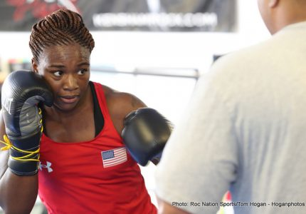 Claressa Shields vs. Szilvia Szabados on March 10